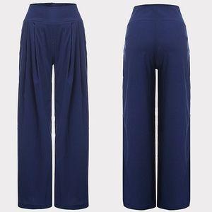 Pants - Fashion Wide Leg High Waist Chiffon Harem Pants